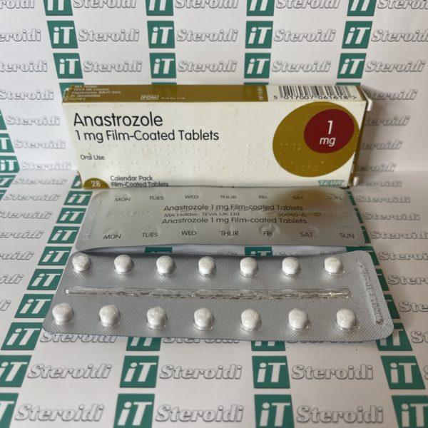 Confezione Anastrozole 1 mg Teva