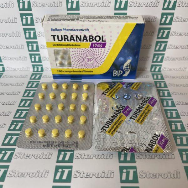 Confezione Turanabol 10 mg Balkan Pharmaceuticals