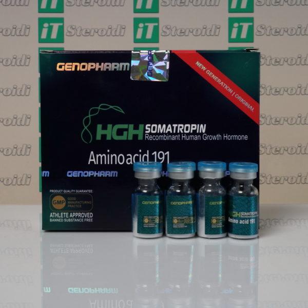 Confezione HGH Somatropin Amino acid 191 10 IU Genopharm