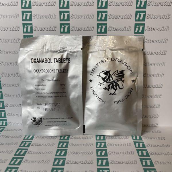 Confezione Oxanabol 10 mg British Dragon Pharmaceuticals