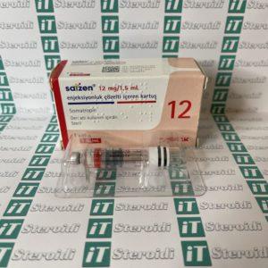 Confezione Somatropin 12 mg Saizen