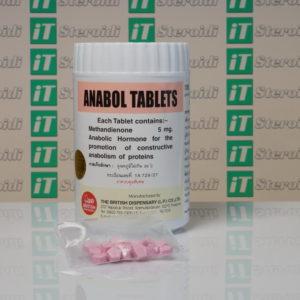 Confezione Anabol 5 mg British Dispensary